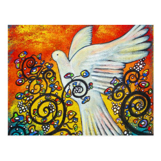 Peace Flew In Flying Dove Postcard