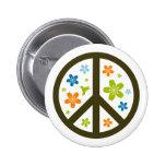 Peace Floral Design Badge
