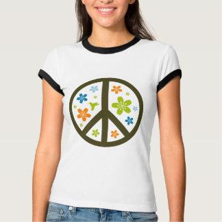 Peace Floral Design T-shirt