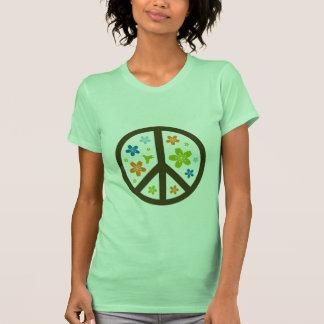 Peace Floral Design T Shirts