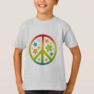 Peace Floral Design Tshirts
