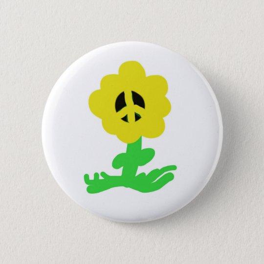 Peace Flower 6 Cm Round Badge