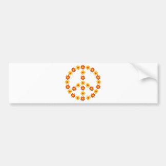 Peace flower bloom bumper stickers