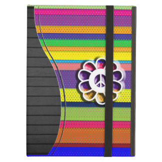Peace Flower Power Colorful Stripes iPad Air Case