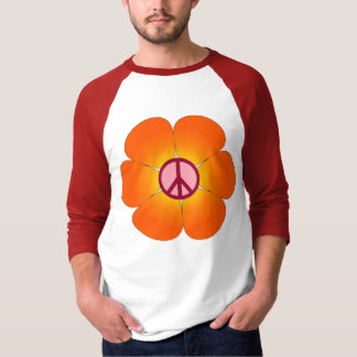 Peace Flower raglan tee
