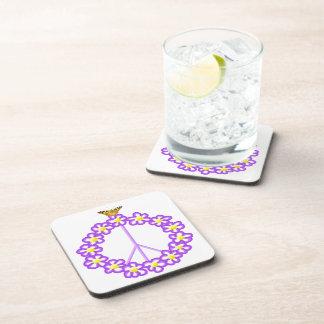 Peace Flowers Butterfly Cork Coaster