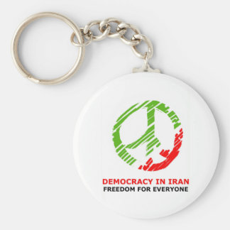 peace for Iran Basic Round Button Key Ring