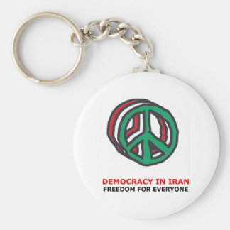 peace for Iran Key Chains