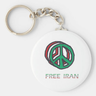 Peace for Iran Keychains
