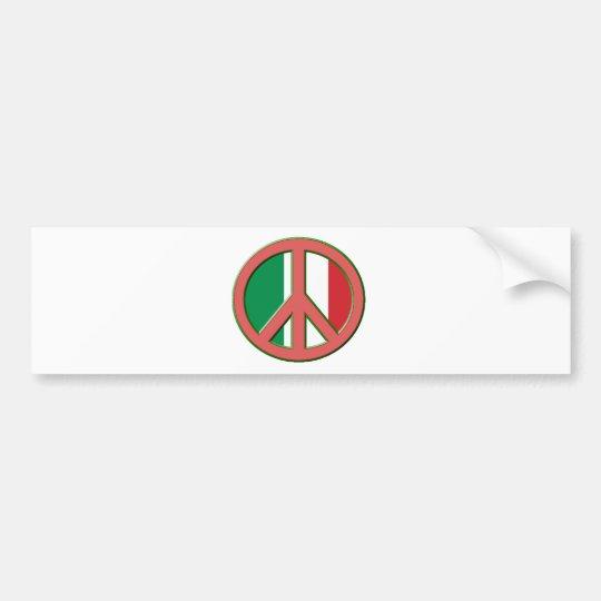 Peace for Italy Bumper Sticker