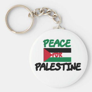 Peace for Palestine Basic Round Button Key Ring