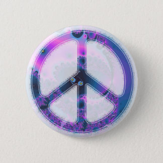 peace fractal button
