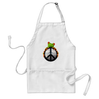 peace frog1 aprons