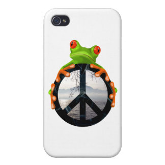 peace frog1 case for the iPhone 4
