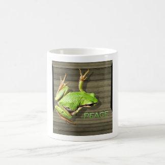Peace Frog Basic White Mug
