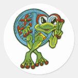 Peace Frog Sticker