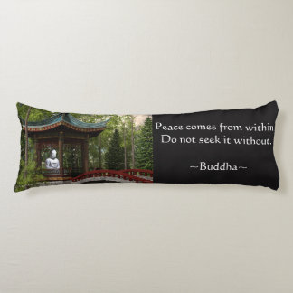Peace From Within, Buddha Quote Body Cushion