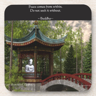 Peace From Within, Buddha Quote Coaster
