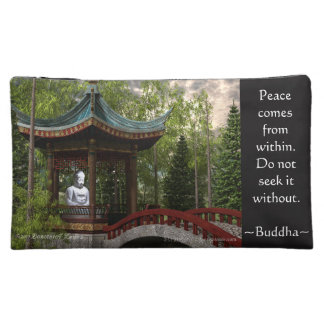 Peace From Within, Buddha Quote Cosmetic Bag