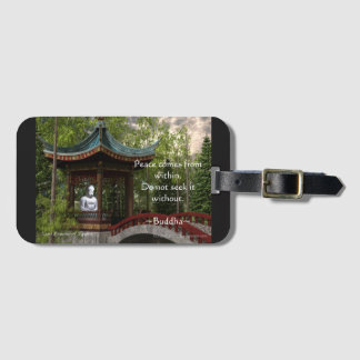 Peace From Within, Buddha Quote Luggage Tag
