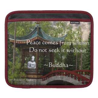 Peace From Within, Buddha Quote Sleeves For iPads