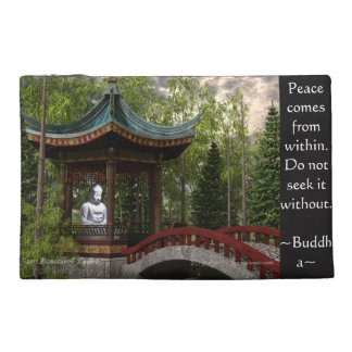 Peace From Within, Buddha Quote Travel Accessories Bags