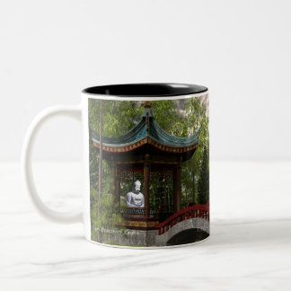 Peace From Within, Buddha Quote Two-Tone Coffee Mug