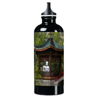 Peace From Within, Buddha Quote Water Bottle