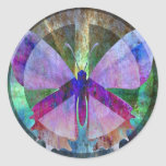 Peace-Full Butterfly Round Sticker
