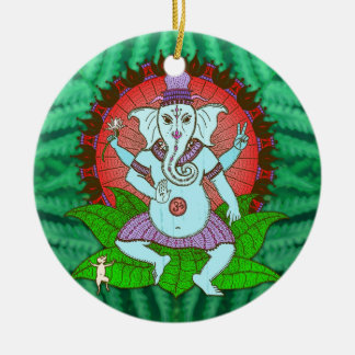 Peace Ganesh Dancing Christmas Ornament