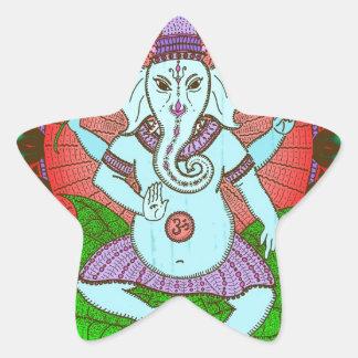 Peace Ganesh Dancing Star Sticker