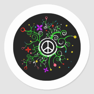 Peace Garden Classic Round Sticker