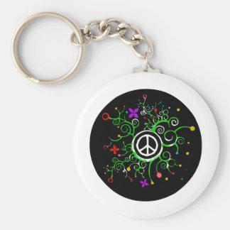 Peace Garden Key Ring