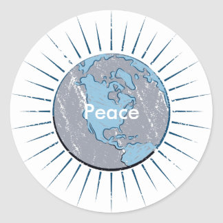 Peace Globe Sticker