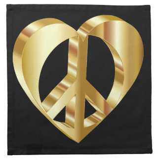 Peace golden heart napkin