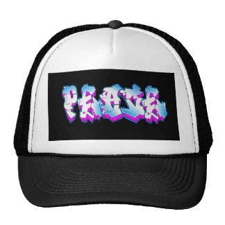 peace graffiti cap