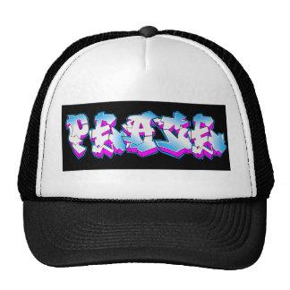 peace graffiti trucker hats