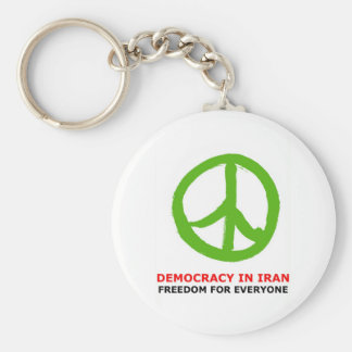 peace green keychains