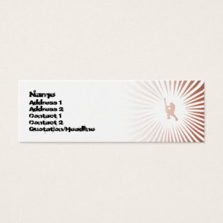 Peace Guitar Player  - Skinny Mini Business Card