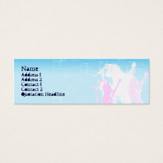 Peace Guitar Singer - Skinny Mini Business Card