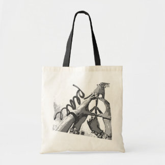 peace hands tote budget tote bag