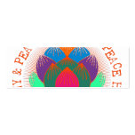 Peace Harmony Lotus Flower Pack Of Skinny Business Cards