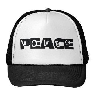 peace mesh hats