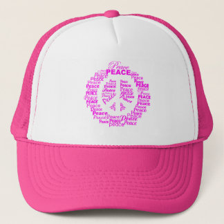 Peace hat - pink