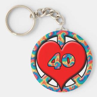 Peace, Heart, 40 Key Ring