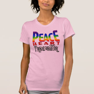 Peace Heart FreeWitch Ladies Fitted Camisole Tee Shirt