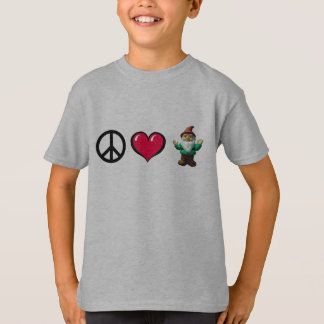 Peace Heart Gnome by FreeWitch Kids T-Shirt