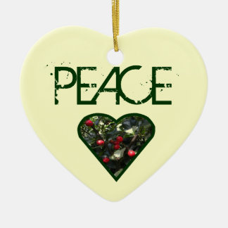 PEACE Heart Tree Ornament