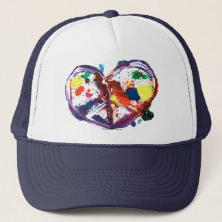 peace heart trucker hat