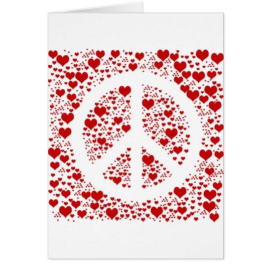 Peace Hearts Card